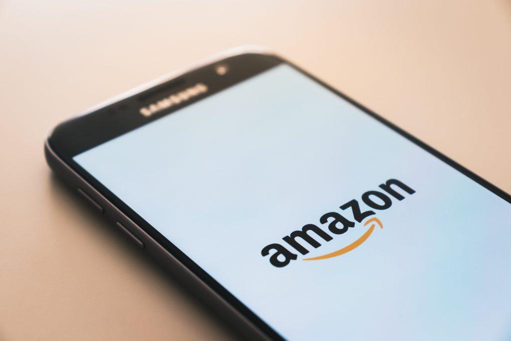 amazon logo on smartphone
