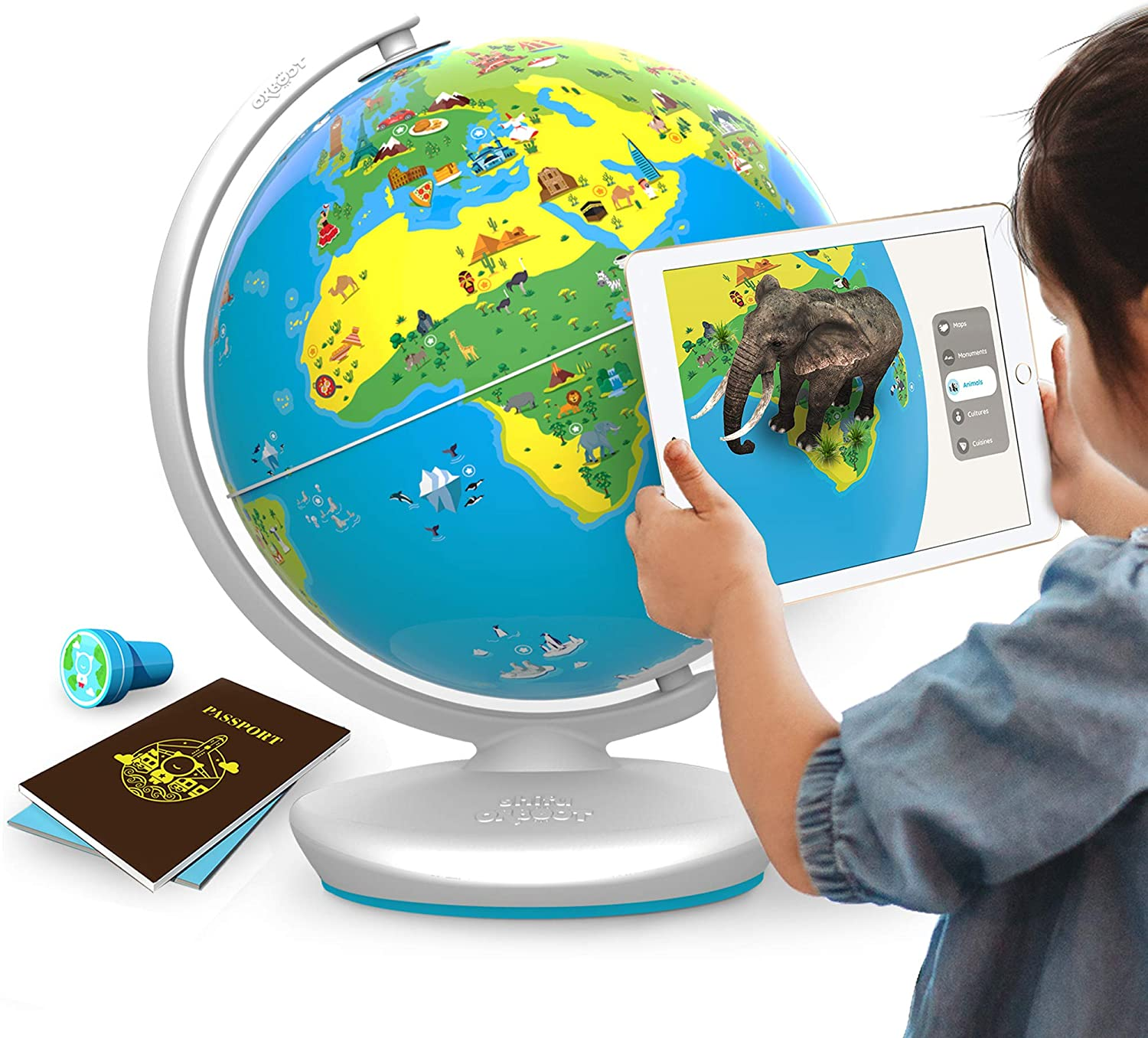 child using orboot with tablet