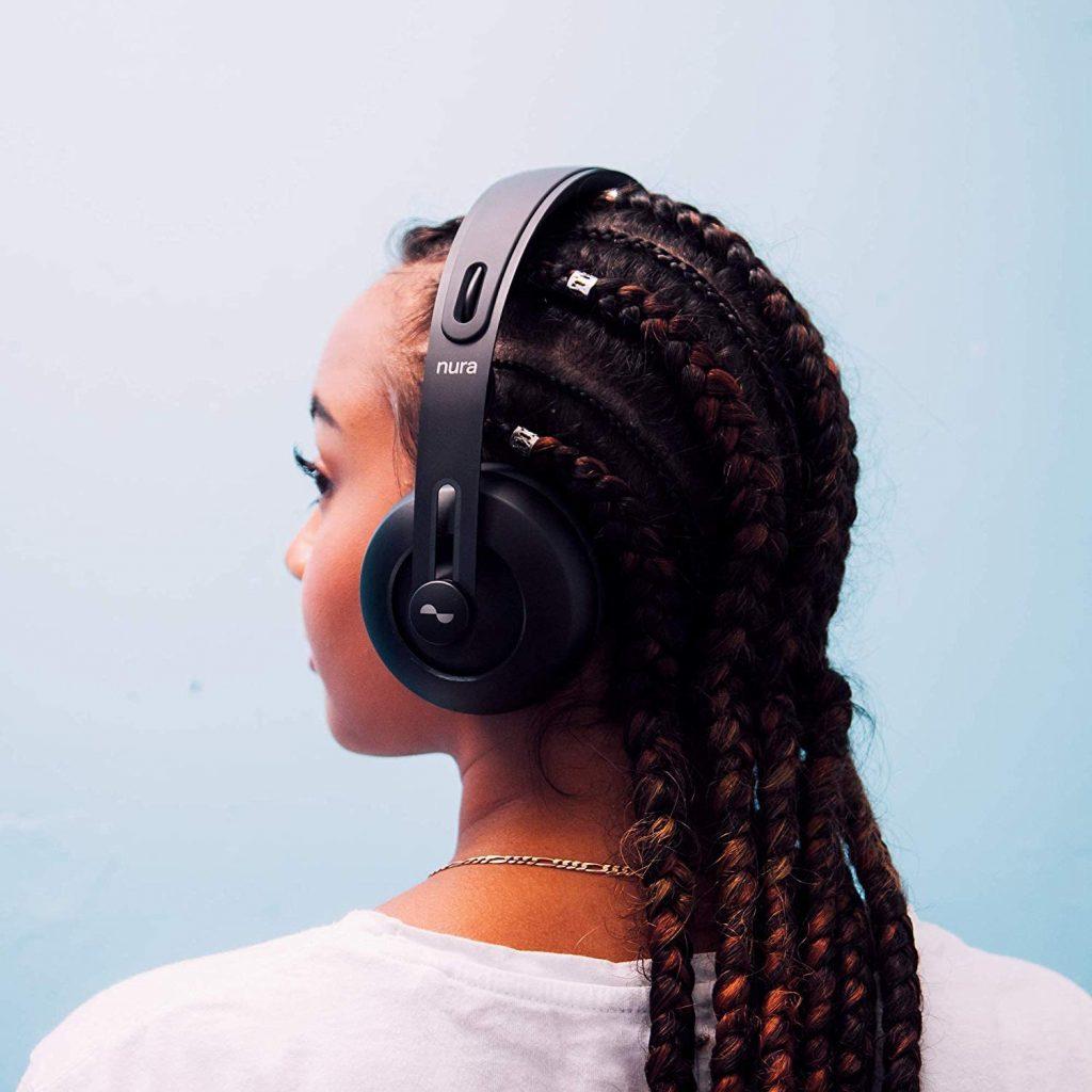 nura headphones from rear left